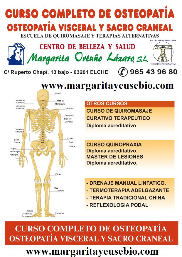 CURSO DE OSTEOPATIA ESTRUCTURAL, VISCERAL Y SACRO-CRANEAL