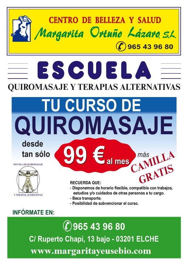 CURSO DE QUIROMASAJE CORPORAL INTEGRAL Y DEPORTIVO